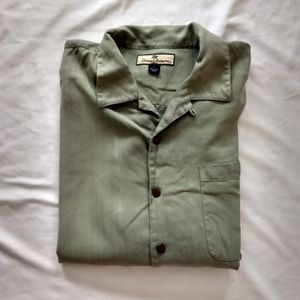 Tommy Bahama L Silk Relax Button Shirt Pocket